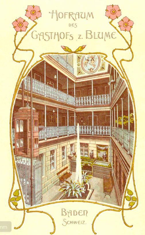 Auszug aus einem Hotelprospekt um 1900; Archiv Hotel Blume.
