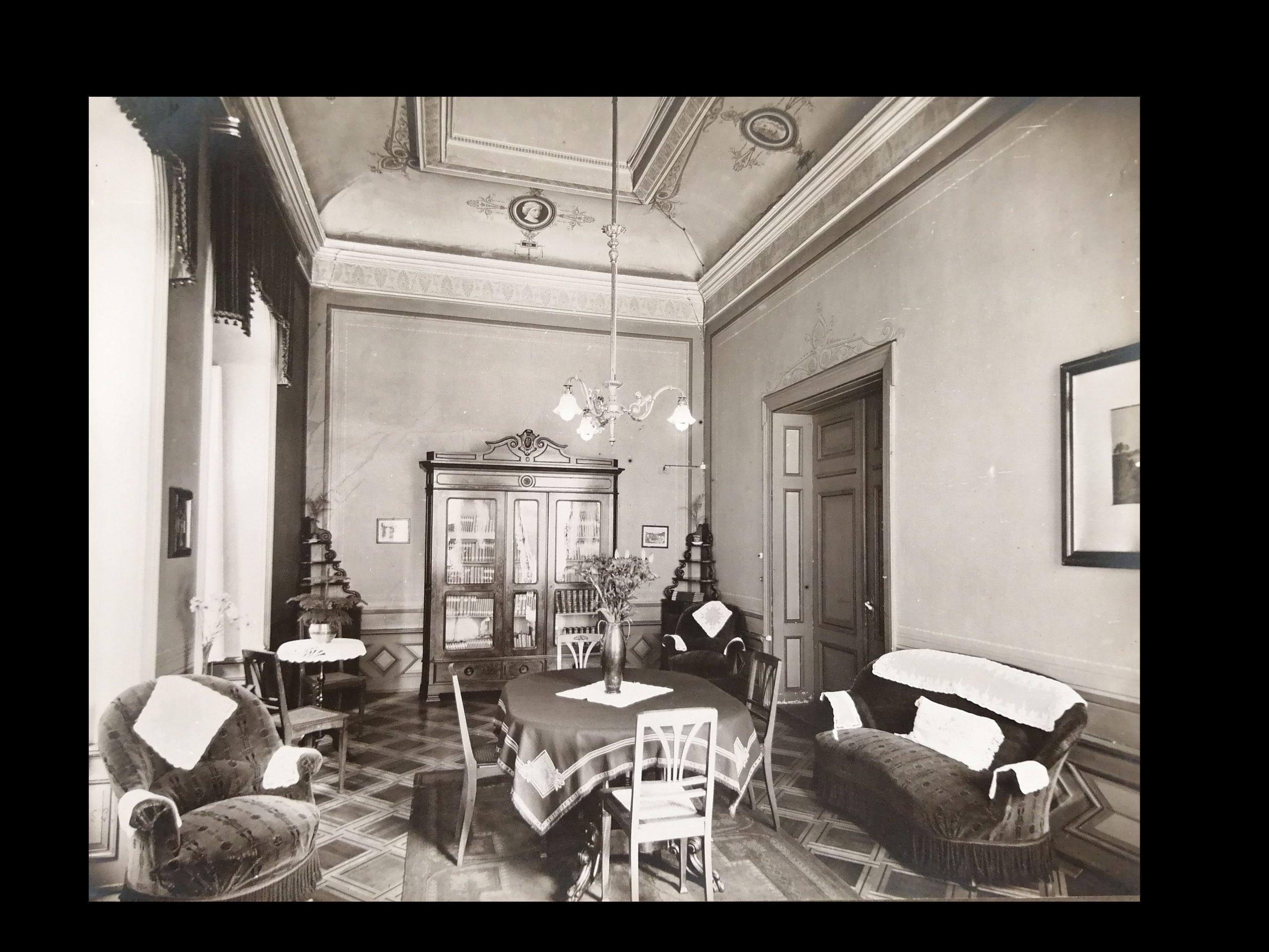 Der Damensalon ca. Beginn 20. Jahrhundert; Stadtarchiv Baden.