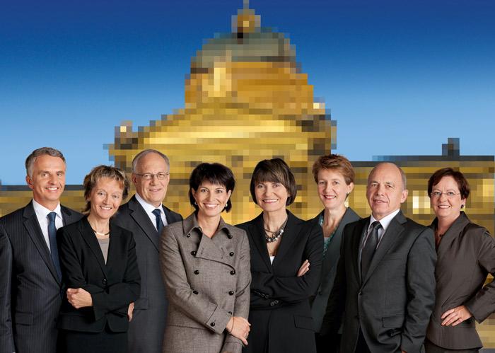 Der Gesamtbundesrat war 2010 Gast in der Blume.; www.admin.ch