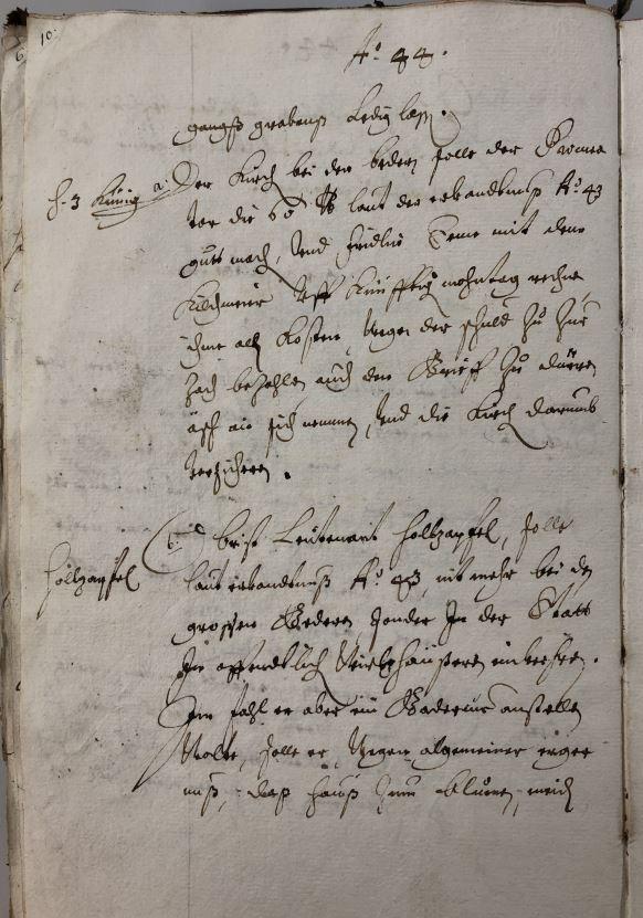 Prozessakten vom 12. Februar 1644; Stadtarchiv Baden.