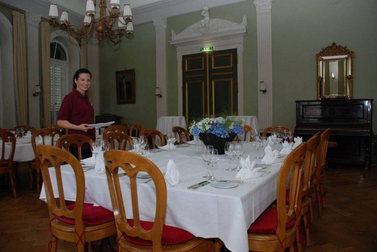Alles ist bereit für das Abendessen des Bundesrats.