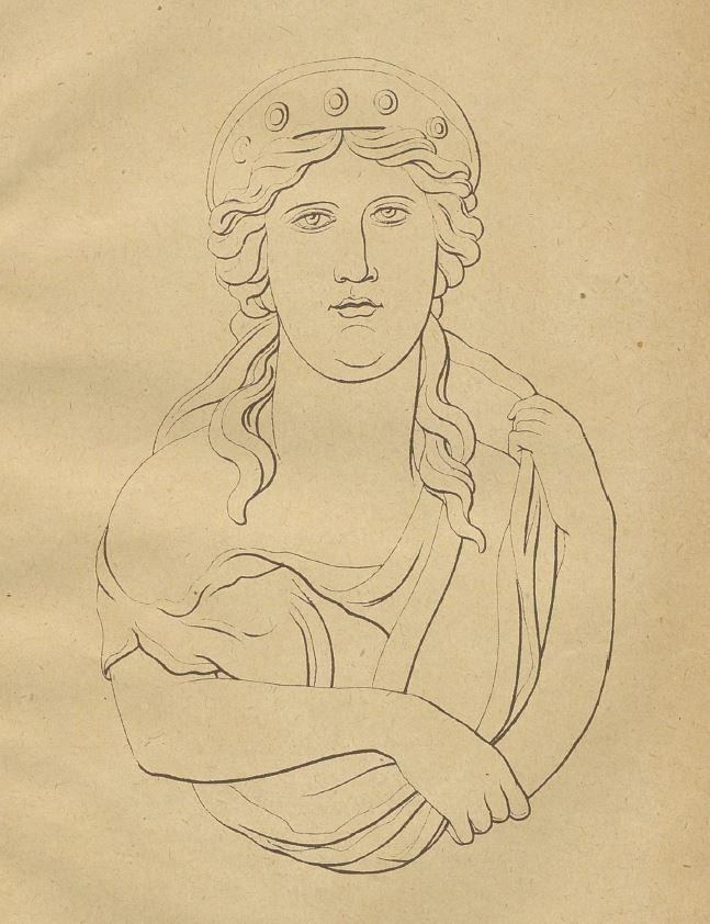 Die erste Zeichnung der Venus-Statuette.